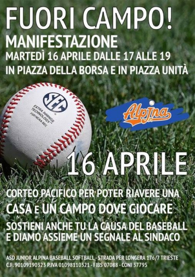 Baseball Junior Alpina, 700 firme per un diamante